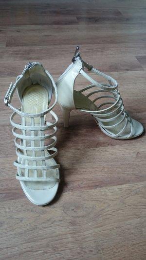 High Heel Sandal oatmeal-cream leather
