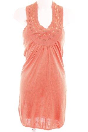 Elfenhaut Strickkleid orange Romantik-Look