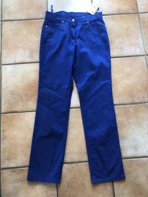Elégance Pantalon palazzo bleu tissu mixte