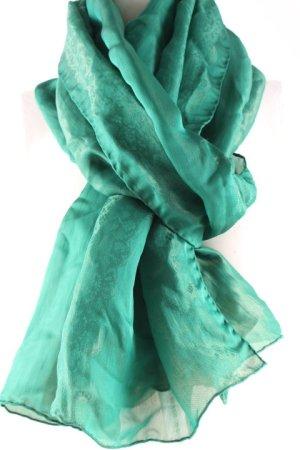 Elie Saab Seidentuch waldgrün abstraktes Muster Elegant