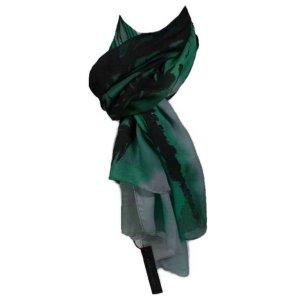 Elie Tahari Foulard vert foncé-noir tissu mixte