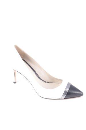 Elie Tahari Spitz-Pumps schwarz-weiß Elegant