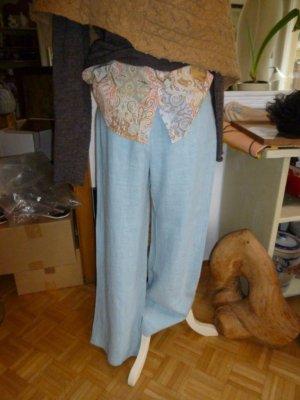Elisa Cavaletti Pantalon en lin bleu azur