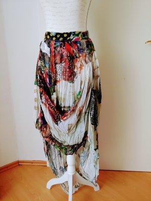 Elisa Cavaletti Jupe en tissu crash multicolore