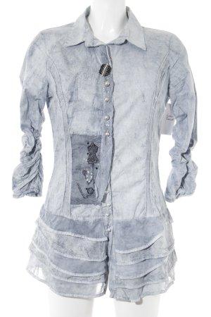 Elisa Cavaletti Hemd-Bluse Maltechnik-Muster Casual-Look