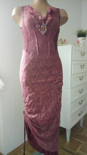 Elisa Cavaletti Kleid ,langes traumhaftes LagenKleid aus Spitze und Textil in Rosenholz -Altrose