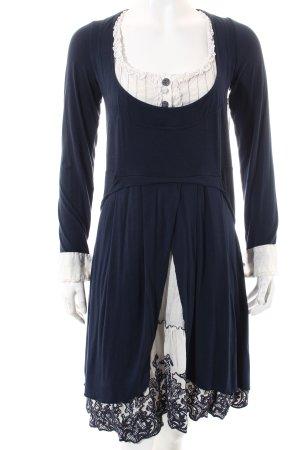 Elisa Cavaletti Kleid weiß-dunkelblau Casual-Look