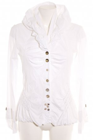 Elisa Cavaletti Ruffled Blouse white casual look