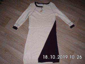 Elisa Cavaletti Sweater Dress cream-brown violet cashmere