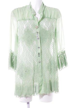 Elisa Cavaletti Blouse en dentelle vert prairie motif abstrait