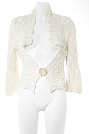 Elisa Cavaletti Knitted Bolero oatmeal loosely knitted pattern casual look
