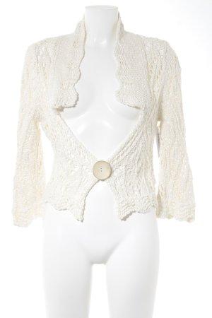 Elisa Cavaletti Bolero lavorato a maglia beige chiaro Motivo a maglia leggera
