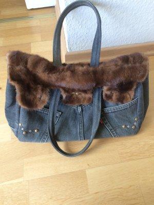 Elisa Cavaletti Tasche jeans mit Nerz ***TOP***