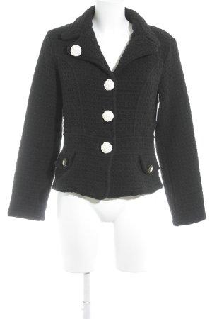 Elisa Cavaletti Blazer en laine noir style romantique