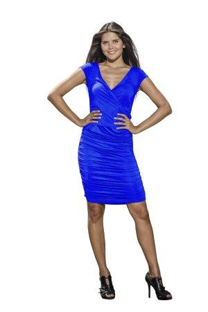 ELISA Jerseykleid von LOUISA OKONYE, Größe 36, Blau, *SALE*