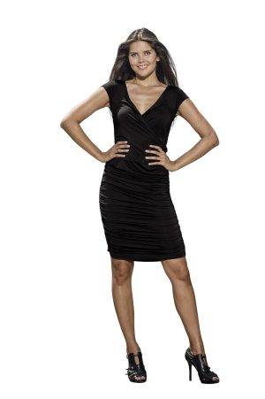 ELISA Jerseykleid von LOUISA OKONYE, Größe 40, Schwarz, *SALE*