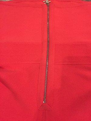 Elisabetta Franchi Robe à corsage rouge brique-rouge clair