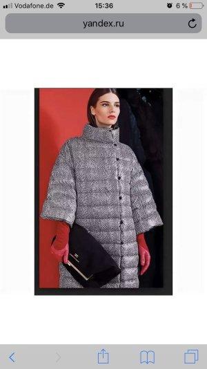 Elisabetta Franchi Abrigo de plumón negro-blanco