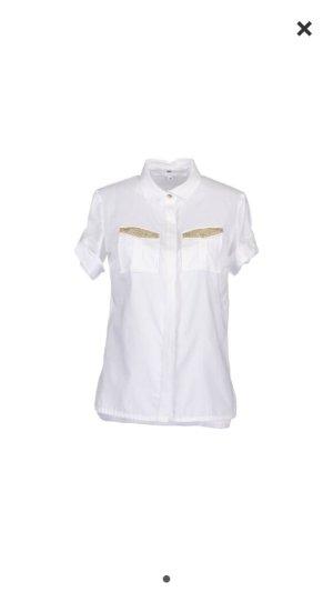 Elisabetta franchi bluse - Gold weiß - Np 219€ Gr 40