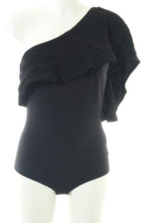 Elisabetta Franchi Blusa tipo body negro look casual