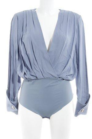 Elisabetta Franchi Blusa tipo body azul acero-azul celeste elegante