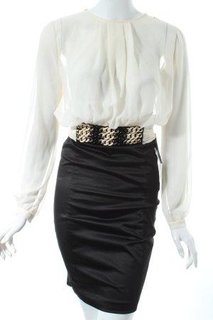 Elisabetta Franchi Blusenkleid schwarz-creme Business-Look