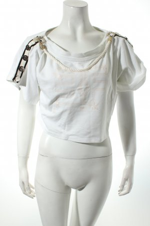 Elisabetta Franchi Cropped Shirt white themed print casual look