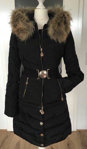 Elisabetta Franchi Abrigo de plumón negro