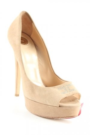 Elisabetta Franchi Peeptoe Pumps beige Party-Look