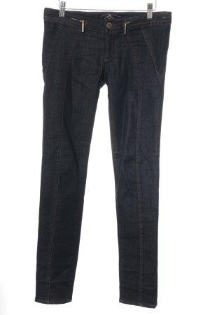 Elisabetta Franchi Stretch Jeans dunkelblau klassischer Stil