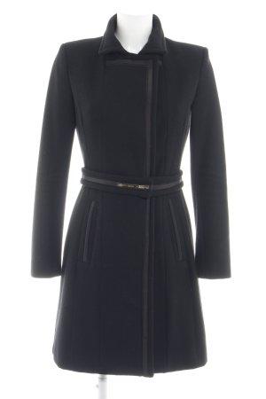 Elisabetta Franchi Wollmantel schwarz Elegant