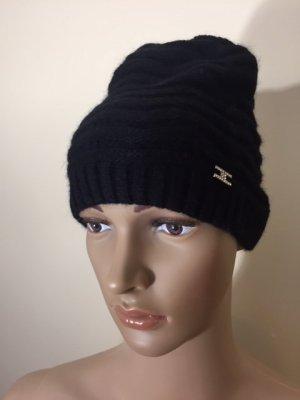 Elisabetta Franchi Chapeau en tricot noir laine