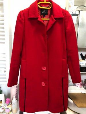 Short Coat dark red