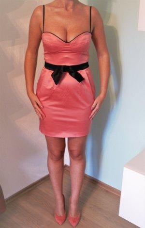 Elise Ryan Kleid Größe 36 Coral Satin Bustierkleid