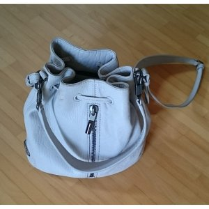 Elizabeth and James Bolsa de hombro color plata-gris claro