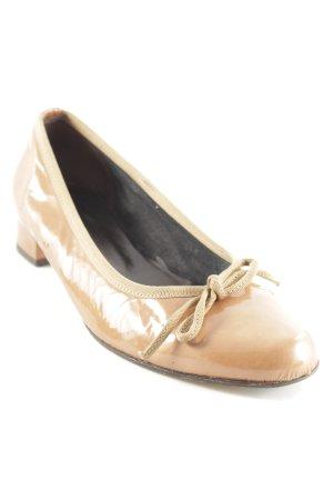 Elizabeth Stuart Patent Leather Ballerinas light brown-nude elegant