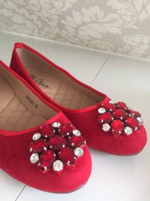 Bailarinas rojo ladrillo fibra textil