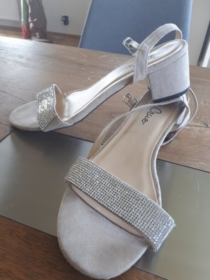 Strapped High-Heeled Sandals oatmeal