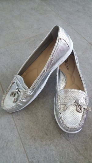Mocasines color plata