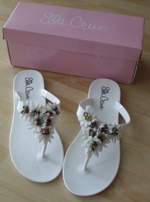 Toe-Post sandals white synthetic
