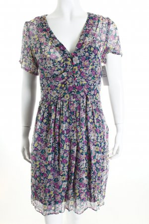 Ella moss Kurzarmkleid florales Muster Street-Fashion-Look