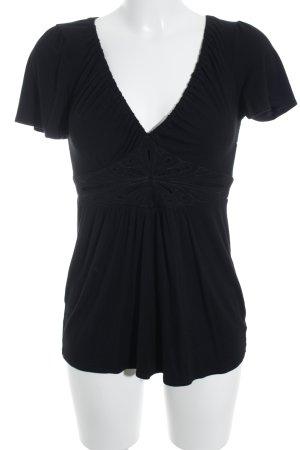 Ella Moss T-Shirt schwarz Casual-Look