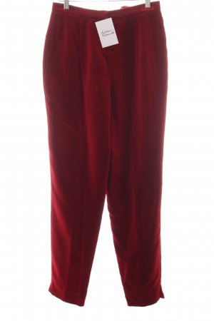 Ella Singh Pleated Trousers dark red extravagant style