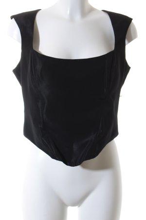 Ella Singh Corsage topje zwart extravagante stijl