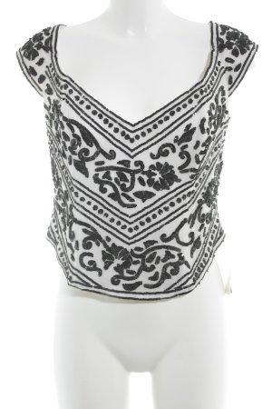 Ella Singh Corsagen Top weiß-schwarz Elegant