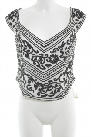 Ella Singh Corpiño blanco-negro elegante
