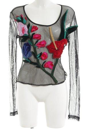 Ella Singh Netzshirt Motivdruck Elegant