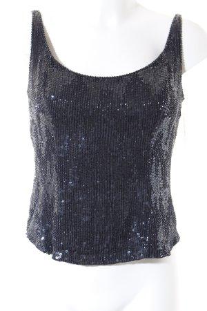 Ella Singh Trägertop schwarz-dunkelblau extravaganter Stil