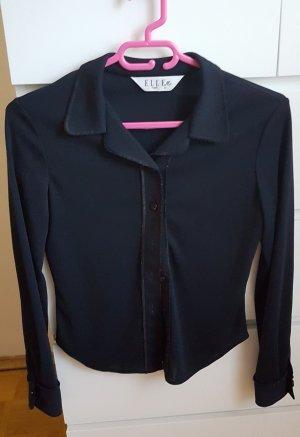 Elle Cuello de blusa negro