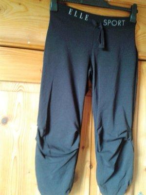 Elle Sport, 3/4 Sporthose, schwarz, Baumwolle, Gr.36